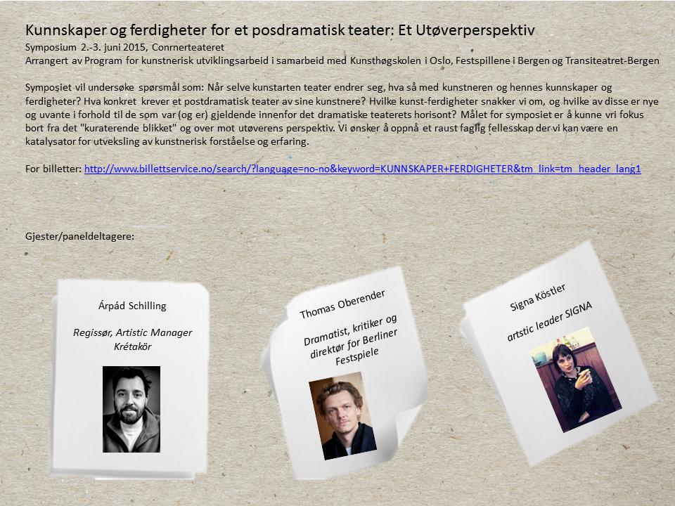 symposium gjester